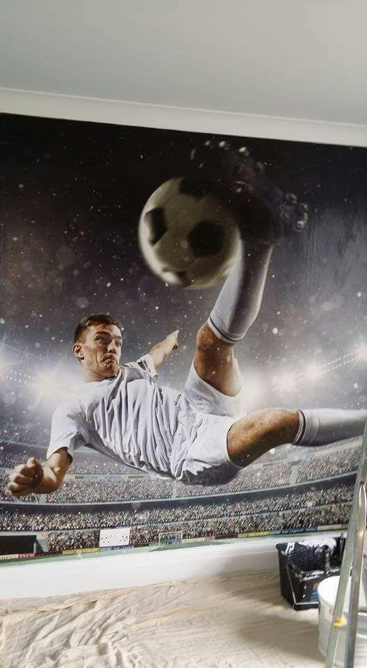 Footballer mural