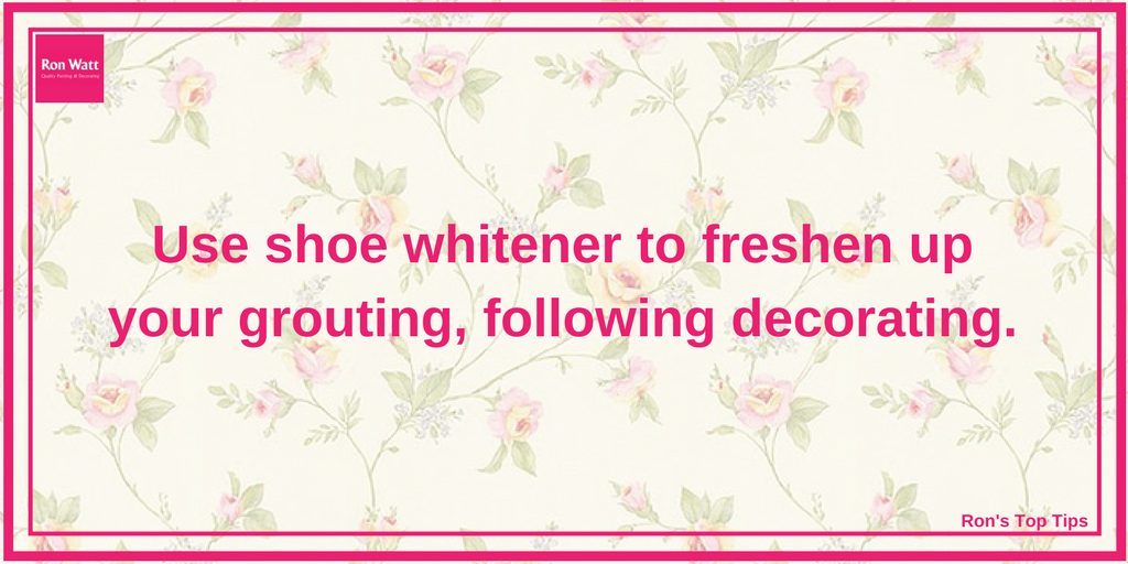 Ron's Top Tips | Shoe Whitener | Quality Painting & Decorating